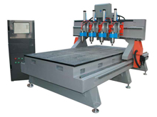Four-head ATC Woodworking CNC Router
