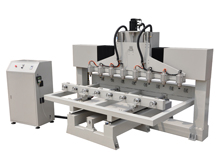 Eight-heads 3D CNC Router